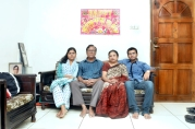Nandini ( left) with her family